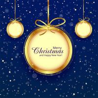 Christmas ball decorative blue background illustration vector