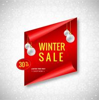 Beautiful Christmas winter sale banner background vector