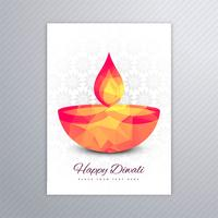 Disegno decorativo del modello di cartolina d'auguri di diwali