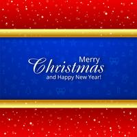 Beautiful merry christmas greeting card design