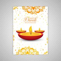 Beautiful Happy diwali colorful brochure template design