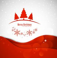 Merry christmas greeting card with christmas tree background ill