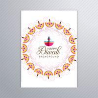 Buen folleto para diwali plantilla diwali colorido