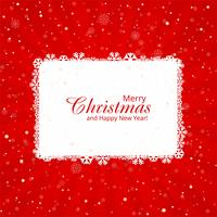 Beautiful Merry Christmas card with red background