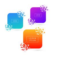 Beautiful Broken modern banner colorful set design