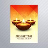 Dekorativ diwali hälsningskort mall design