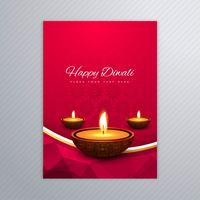 Decorative diwali greeting card template design