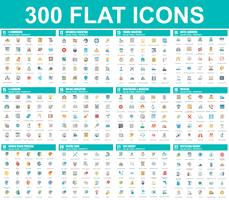 Simple set of vector flat icons. Contains such Icons as Business, E-commerce, Travel, Vacation, Education, Learning, Medical, Healthcare, Ecology. 48x48 Pixel Perfect. Flat pictogram pack.