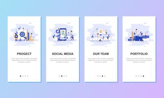 Onboarding screens user interface kit