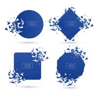 Vacker Broken Modern Banner Collection Design Vector