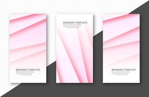 Abstract colorful papercut banner set template