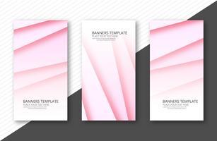 Abstracte kleurrijke papercut banner ingesteld sjabloon