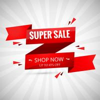 Super Sale Banner Design. Vektor illustration