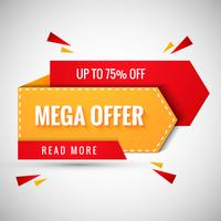 Mega Offer Banner Design illustration vector