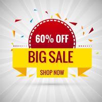 Grote verkoop banner kleurrijke ontwerp illustratie