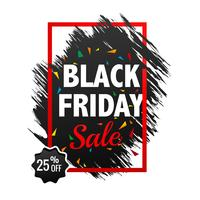 Beautiful black friday sale poster background