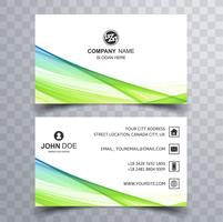 Abstract stijlvol de sjabloonontwerp van het golf kleurrijk adreskaartje