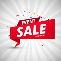 Event sale banners colorful design template vector