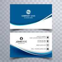 Abstract stylish wave colorful business card template design