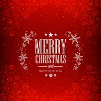 Beautiful festival merry christmas red background