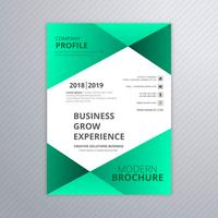 Belle brochure design template vecteur