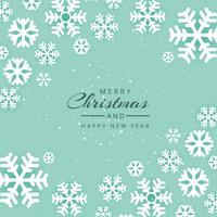 Beautiful festival merry christmas snowflake vector background