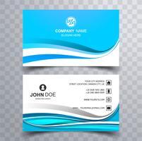 Design de modelo de cartão colorido elegante onda abstrata