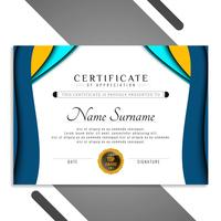 Abstract elegant certificate template wavy design
