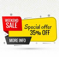 Special offer sale banner creative design vector