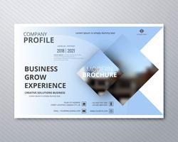 Design professionale modello di brochure moderna di affari