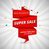 Super verkoop banners ontwerp vector