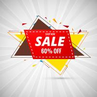 Sale Design Banner colorful vector illustration