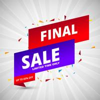 Final sale banners colorful template vector
