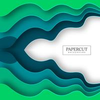 Abstract colorful wave papercut background illustration