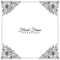 Abstract beautiful floral frame background vector