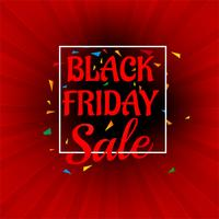 Beautiful Abstract black friday sale poster design vector