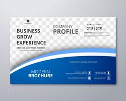 Professional business flyer template card colorful wave vector