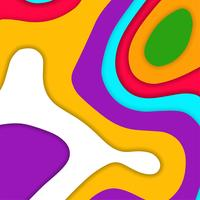 Abstract colorful stylish papercut background