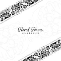 Fondo decorativo del marco floral abstracto
