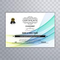 Vacker kreativ certifikat mall design vektor