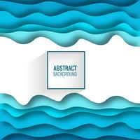 Blauwe achtergrond met papier gesneden vormen. Vector illustratie