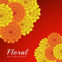 Abstract colorful floral background vector