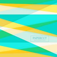 Papercut colorful shape background vector