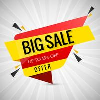 Modern big sale banner design