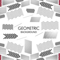 Modern geometric creative shape lines vector design