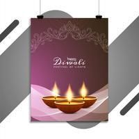 Résumé modèle de flyer festival joyeux Diwali
