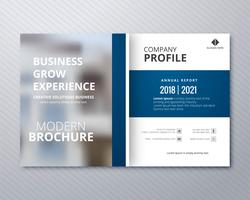 Modern business brochure template professional design illustrati