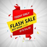 Venta flash banner creativo diseño colorido vector