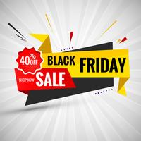 Black Friday vente conception mise en page de bannière