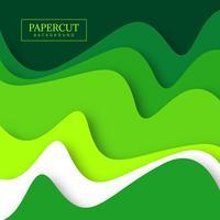 Groene papercut kleurrijke achtergrond vector